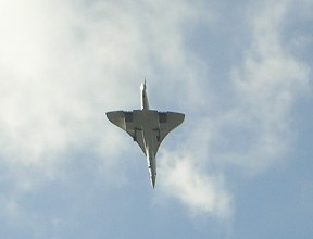 Concorde on last flight over Dukes Meadows