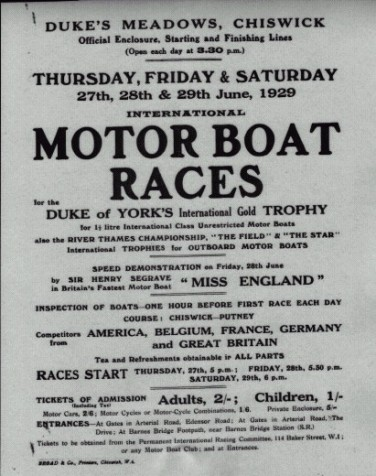 Copy of the Official Program for race meeting