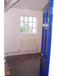 one of the changing rooms under refurbishment into a Artist Studio