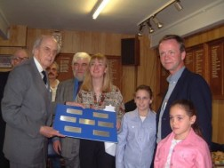 The Duke after unveiling our Plaque's in the Bowls Club
